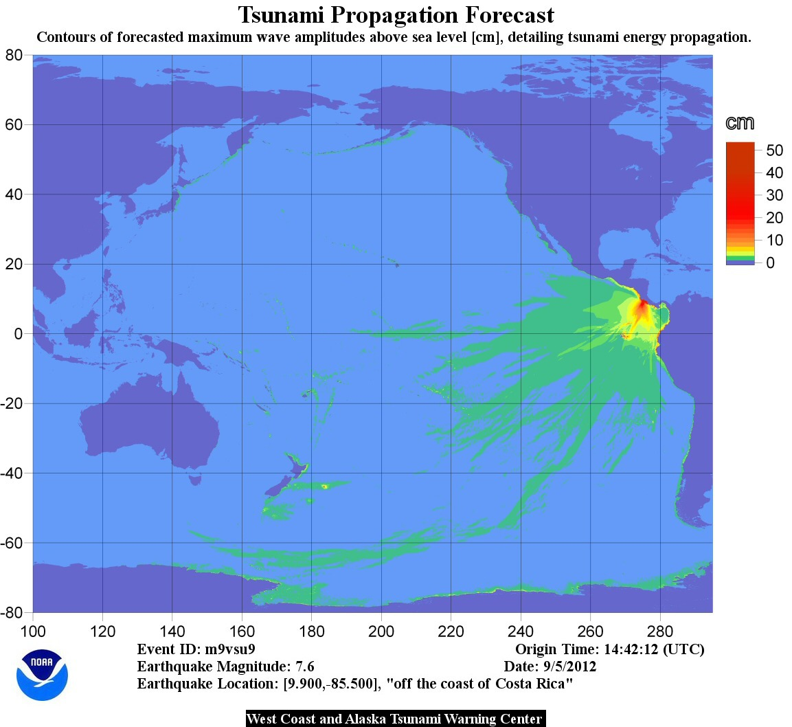 US Tsunami Warning Centers - Us map travel times